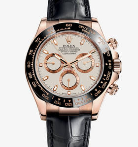 Replica Rolex Cosmograph Daytona Watch: 18 ct everose ouro - M116515LN -0003