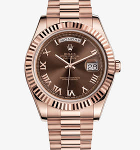 Replica Rolex Day-Date II Watch: 18 ct everose ouro - M218235 -0035
