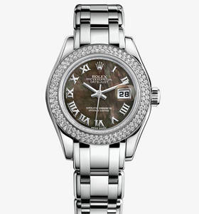 Replica Rolex Lady- Datejust Pearlmaster Watch: 18 ct ouro branco - M80339 -0032